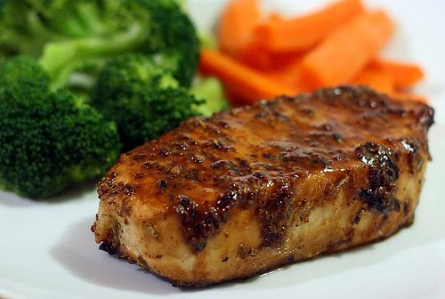 Honey Pork Chop Recipe with ginger and soy sauce