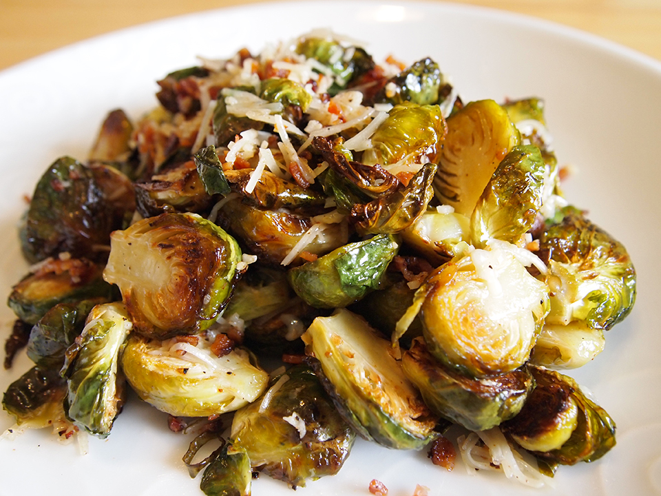 Roasted Brussel Sprouts with Parmesan Cheese