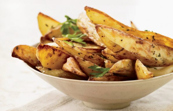 Herb and cheese Potato Wedges