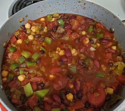 living well recipes veggie chili